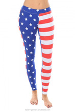 Fashion Women's Leggins Digital Printing Pants US Flag Leggings