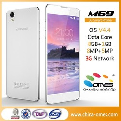 Latest Model M69 Octa Core 1.7Ghz MTK 6592 3G dual sim andorid smartphone 6 inch