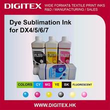 2014 Hot Six Colors dye sublimation inkjet ink