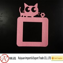 2015 DIY Design Top Quality Felt Material Switch Sticker with a Supercute Cat for Home Decoration