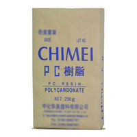 Brown paper bag for ABS material 25KG kraft paper bag packing chemical raw materials cement woven bag