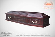 Td-e38 Funeral sólido ataúd de madera de venta