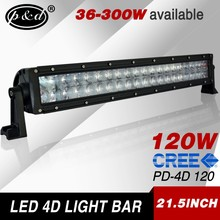 factory wholesale 36-300w available 120w straight cre e off road led light bar