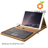 hotsale multifunction leather tablet case for ipad 2/3/4/air PU briefcase handbag for MacBook pro Air