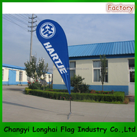 High quality cheap advertising teardrop flag