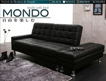 Good quality black leather sofa/sofa bed,Sectional Sofa Bed with Reversible Chaise and Storage