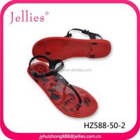 Crystal ladies plastic shoes sandals