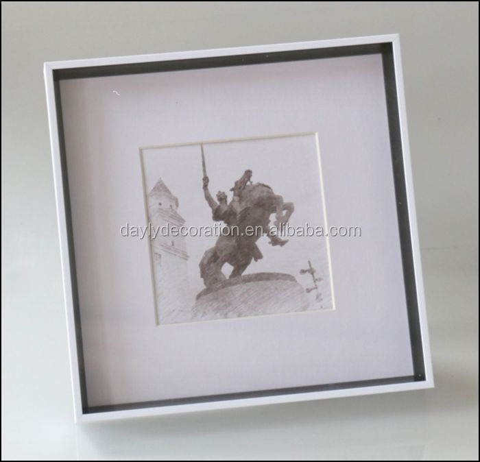 Deep Box Of Cheap Square Picture Frames White Glass Shadow Box Frame ...