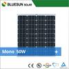 Bluesun high effiency samll 12V mono 50W solar panel for protable system