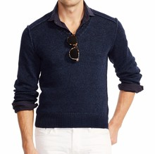15PKLS32 spring summer men sweater 100% linen clothing