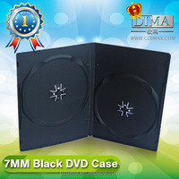 top quality Double black 7mm slim dvd case