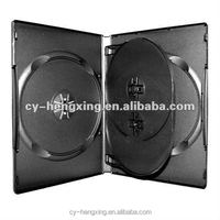 pp black dvd case for 4 discs