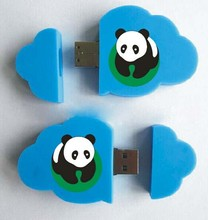 Cheap promotiona gift PVC cloud shape with logo usb flash drive