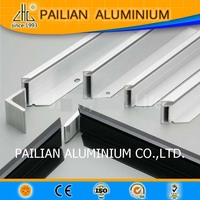 aluminum extruded solar panel frame, golden brushed frame for photo/ picture, aluminum extrusion manufacturer in foshan