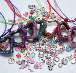 Populat teenagers floating locket crystal locket pendant jewelry