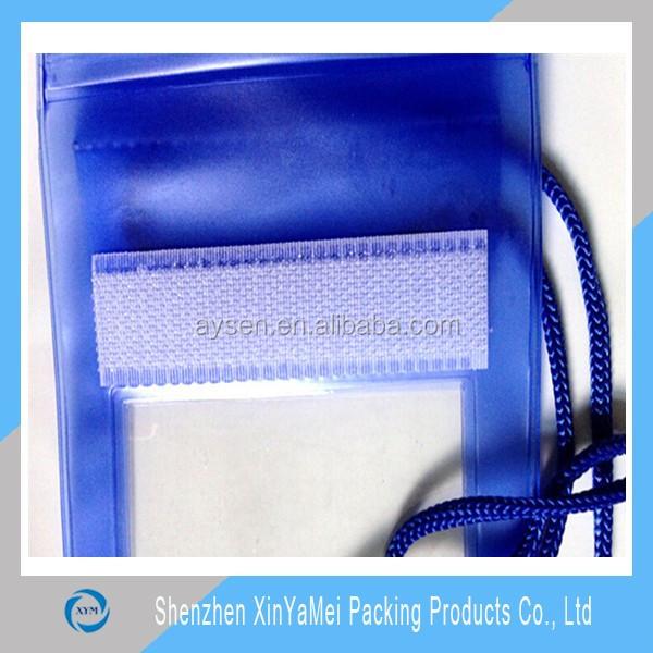 velcro closure waterproof cell phone neck hanging bag