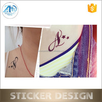 Free promotion Christmas OEM design tattoo sticker for bubble gum with various shapes