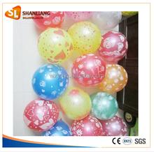 Full Silk Screen Printing Round Balloon, Flower, Stars Round Decorate Balloon