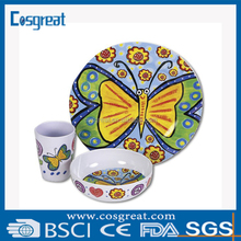 high quality custom design melamine dinnerware set for children