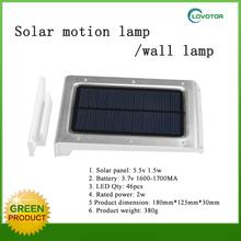 Detachable wall light led solar garden light with sensitive motion sensor