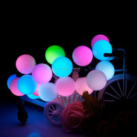 5M 50 110V US Plug in RGB ball LED color changing with 16ft linkable ball string lights for Christmas holiday party home decor