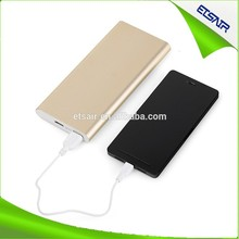 New arrival Silver power bank for macbook pro /ipad mini ,For mobile phone external battery