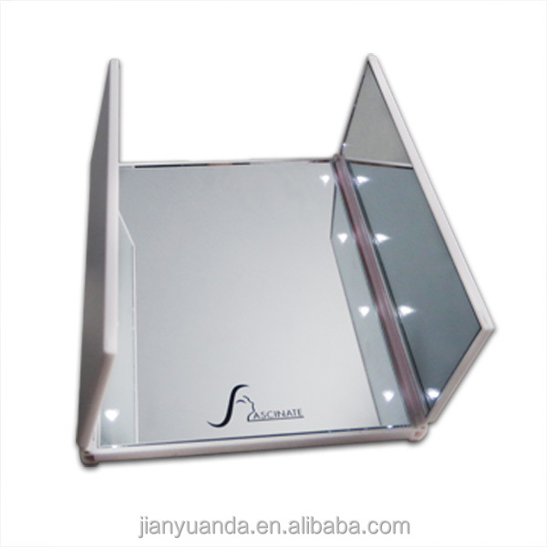 Vanity Table With Lighted Plastic Stand Up Mirror Hair Salon Styling Statio