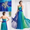2015 Hot Sale Elegant A-Line Sweetheart Colorful Chiffon Off The Shoulder Prom Party Evening Dress HA-062