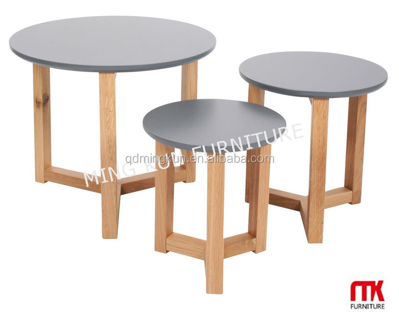 Marble Glass Top Wooden Base Coffee Tableside Tables