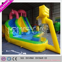 Fun small inflatable water park, inflatable water slide with basketball play