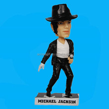 "MICHAEL JACKSON 7"" Polyresin BOBBLE HEAD FIGURINE home office decor"