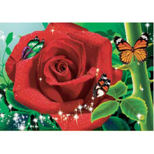 Wholesale Beautiful 3d Red Rose Flower Picture