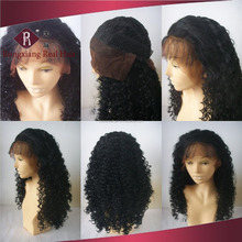 Heat Resistant Synthetic Hair Black Curly Lace Front blythe doll wig