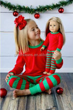 Wholesale girls fall boutique outfits christmas 100% cotton pajamas online shop alibaba girls outfits
