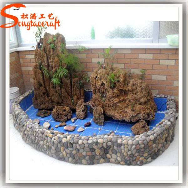 Indoor Decor Garden Pond Fiberglass Fish Ponds Stone