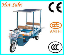 New Solar Electric Three Wheels Transport Vehicle,3 Wheel Car For Sale,Electric Tricycle For Passenger,Amthi