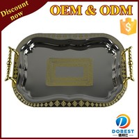 wholesale decorative metal serving tray/serving tray/metal tray for Dubai T048