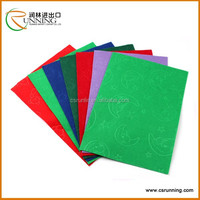 2015 high quality manufacturer production nonwoven fabric embossed felt