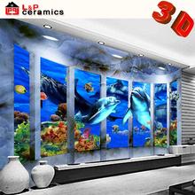 free sample high quality grade AAA sea world 3d tiles for bathroom
