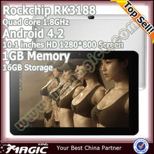 10.1 inch IPS screen android 4.2 quad core rk3188 mini pc with hot sex girls picture