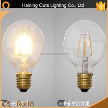 Edison style led bulb 5w 7w led e27 220v led light bulb e27 led globe bulb new product led filament bulb china