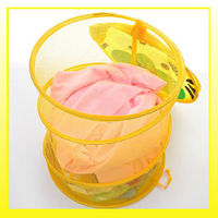 Hot selling colorful cartoon cover cute cloth laundry basket