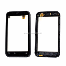Top Front Touch Screen Digitizer For Motorola Defy MB525 MB526 with Frame