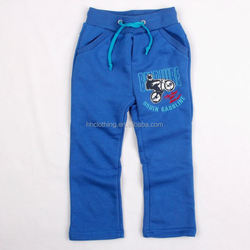 (B3516) 18M-6Y children boys winter cotton-padded trousers embroidered with pattern