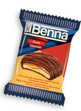 BENNA FORE MILKY CHOCOLATE COATED COCOA DECORATED BISCUIT WITH CARAMELA