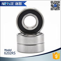Electric Generator Bearing Deep Groove Ball Bearing 6202DDU for Automobile