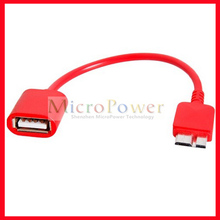 OTG Micro USB 3.0 Host Adapter Cable for Samsung Galaxy Note 3 (Red)