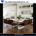 新しい到着のモデルエレガントな白い大理石のダイニングテーブルセット、 熱い販売!!!
