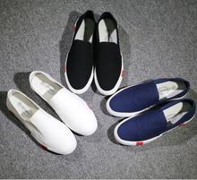 W10472G 2015 wholesale men plain white canvas shoes