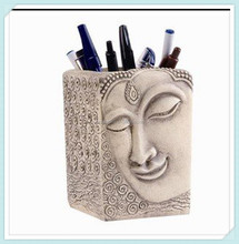 Smiling Buddha Pen and Pencil Holder